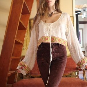 🌙Handmade Vintage Penny Lane Embroidered Blouse